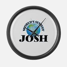 World's Sexiest Josh Large Wall Clock