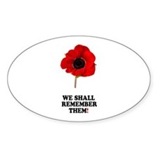 POPPY - WE SHALL REMEMBER THEM! Decal