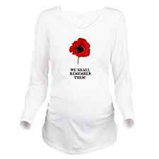 POPPY - WE SHALL REM Long Sleeve Maternity T-Shirt