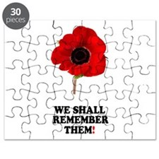 POPPY - WE SHALL REMEMBER THEM! Puzzle