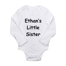 Cute Little brother customized Long Sleeve Infant Bodysuit