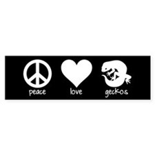 Peace Love And Geckos Black Bumper Bumper Sticker