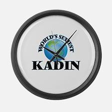 World's Sexiest Kadin Large Wall Clock