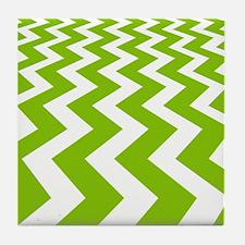 Fast Lane Chartreuse Tile Coaster