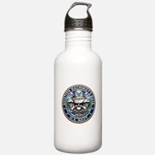 USN AD Blue and Gold Water Bottle