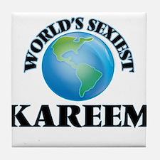 World's Sexiest Kareem Tile Coaster