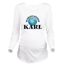World's Sexiest Karl Long Sleeve Maternity T-Shirt