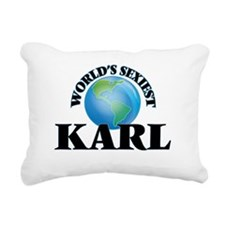 World's Sexiest Karl Rectangular Canvas Pillow