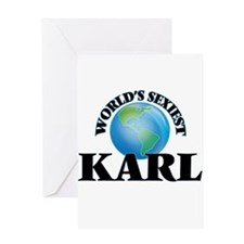 World's Sexiest Karl Greeting Cards