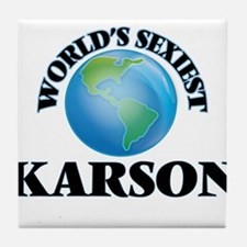 World's Sexiest Karson Tile Coaster