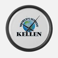 World's Sexiest Kellen Large Wall Clock