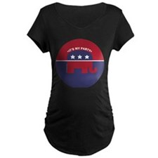 It's My Party Section Logo Maternity T-Shirt