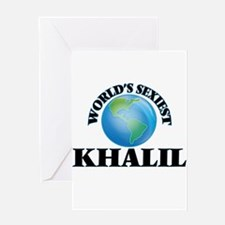 World's Sexiest Khalil Greeting Cards