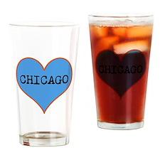 I Love Chicago Drinking Glass