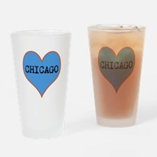 I Love Chicago Drinking Glass