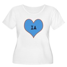 I Love Iowa Plus Size T-Shirt