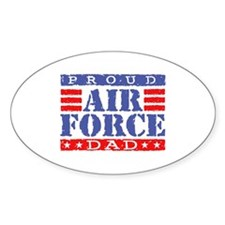 Proud Air Force Dad Oval Decal