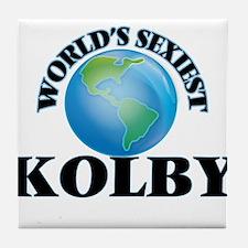 World's Sexiest Kolby Tile Coaster