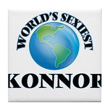 World's Sexiest Konnor Tile Coaster