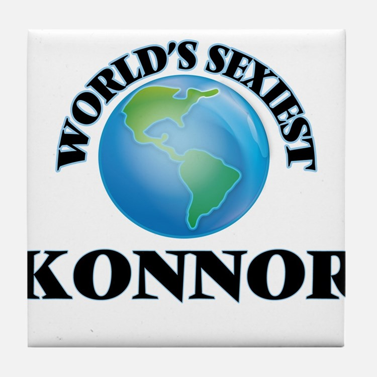 World's Sexiest Konnor Tile Coaster
