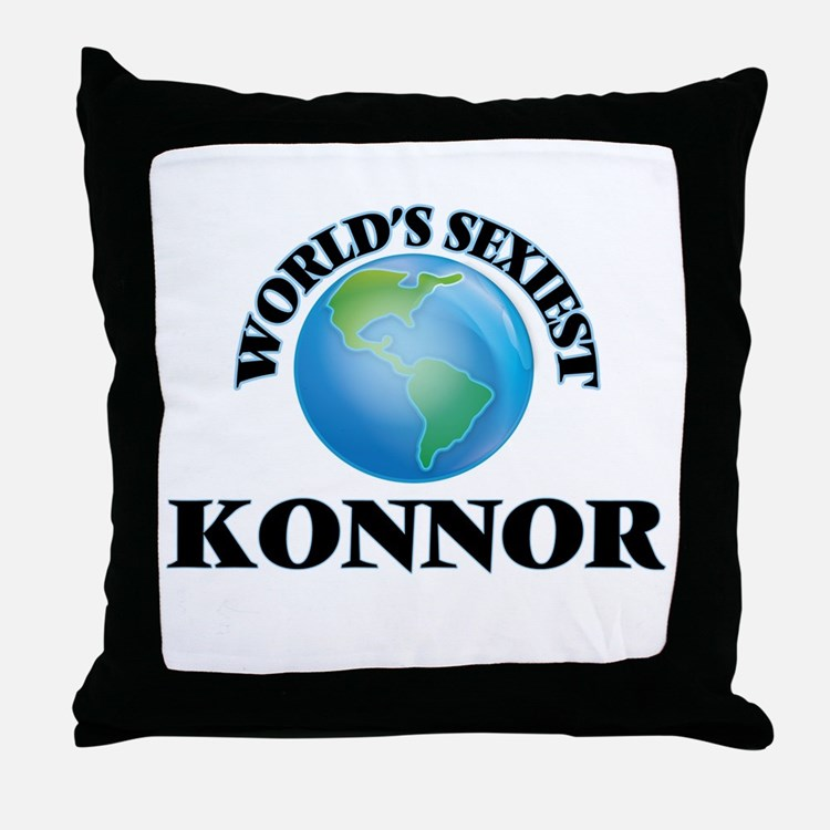 World's Sexiest Konnor Throw Pillow