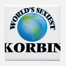 World's Sexiest Korbin Tile Coaster