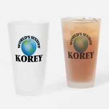World's Sexiest Korey Drinking Glass
