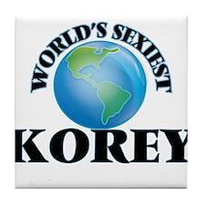World's Sexiest Korey Tile Coaster