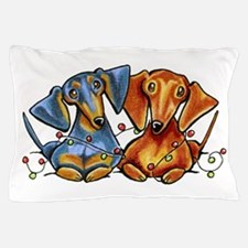 Dachshund Christmas Pillow Case
