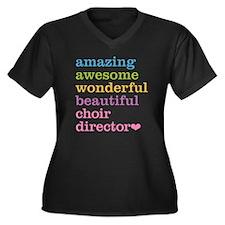 Choir Direct Women's Plus Size V-Neck Dark T-Shirt