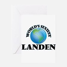 World's Sexiest Landen Greeting Cards