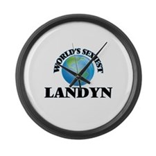 World's Sexiest Landyn Large Wall Clock