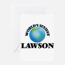World's Sexiest Lawson Greeting Cards