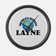 World's Sexiest Layne Large Wall Clock