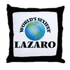 World's Sexiest Lazaro Throw Pillow