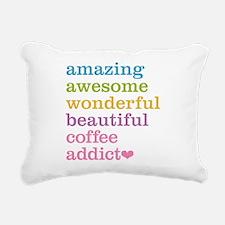 Coffee Addict Rectangular Canvas Pillow