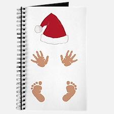 Baby Santas Hands and Feet Journal