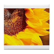 Lone Sunflower Tile Coaster