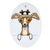 Greyhounds christmas Oval Ornaments