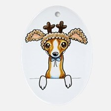 Oh Deer Ornament (Oval)