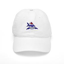 Shark Christmas Cartoon Baseball Cap
