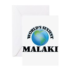 World's Sexiest Malaki Greeting Cards