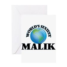 World's Sexiest Malik Greeting Cards