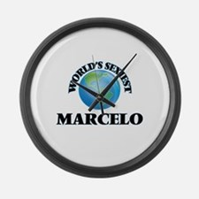 World's Sexiest Marcelo Large Wall Clock