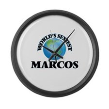 World's Sexiest Marcos Large Wall Clock