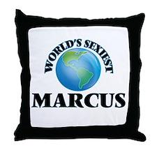 World's Sexiest Marcus Throw Pillow