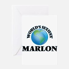 World's Sexiest Marlon Greeting Cards