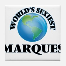 World's Sexiest Marques Tile Coaster
