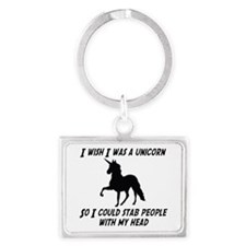 I Wish Was A Unicorn So Could Stab Keychains