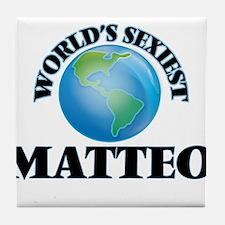 World's Sexiest Matteo Tile Coaster